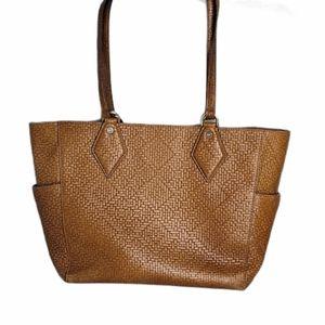 Diane von Furstenberg Brown Leather Tote Bag Purse